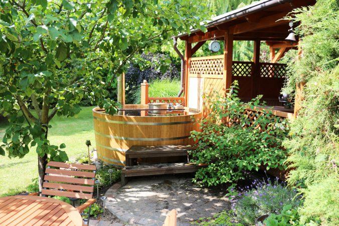 Gartenwasserbottich